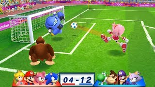 Mario & Sonic At The London 2012 Olympic Games Football Soinc, Amy, Mario and Peach