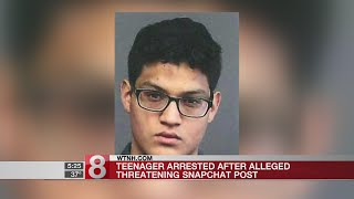 Teenager arrested after alleged threatening Snapchat post