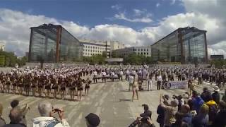 Florida State University Marching chiefs band show in Paris, France (Citroen Park)