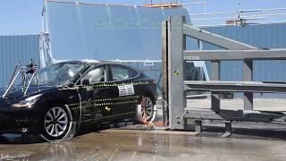 Tesla Model 3 (2018-2019) Crash Tests (Side-Pole, Front, Side)