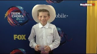 Walmart 'Yodeling Kid' Mason Ramsey at Teen Choice Awards 2018