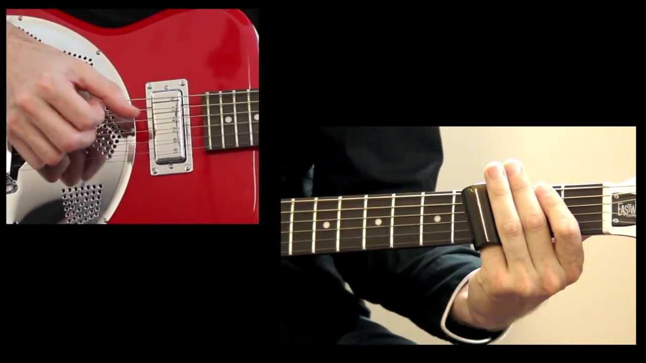 slide guitar lesson with tab walking blues youtube. Black Bedroom Furniture Sets. Home Design Ideas