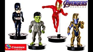 Figurines y vasos Avengers Endgame de Cinemex Confirmados!!