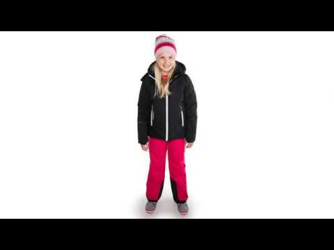 Reima Waken Girls Down Ski Jacket in Black