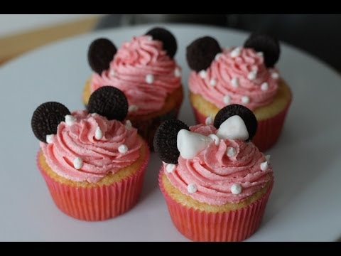 How To Make Minnie Mouse Cupcakes Youtube