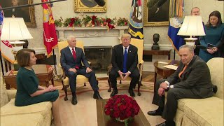 Trump, Democrats clash in White House meeting Pt. 1