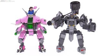 LEGO Overwatch D.Va & Reinhardt set review!  75973