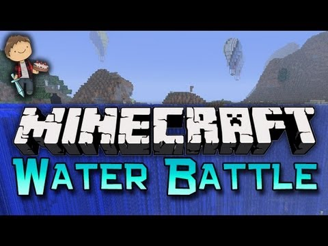 Minecraft: WATER BATTLE! Mini-Game W/Mitch & Friends! - Smashpipe Games