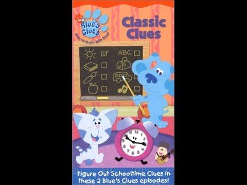 Opening To Blue S Clues Cafe Blue  Vhs