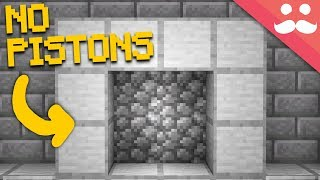 Making a Redstone Door WITH NO PISTONS...