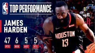 James Harden Drops 47 Points as Houston Takes Down Utah   December 17, 2018