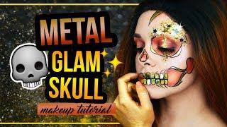 METAL GLAM HALF SKULL - Halloween Makeup Tutorial Last Minute (deutsch) #spooktober