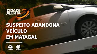 SEQUESTRO RELÂMPAGO: Suspeito abandona veículo em matagal