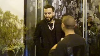 French Montana Exchanges Numbers With A Sexy Girl After Dinner At Catch