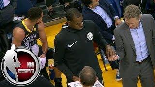 Steve Kerr lets Andre Iguodala run the Warriors' huddle during timeout vs. Suns   ESPN