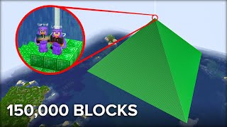 Building The Largest Beacon in Survival Minecraft