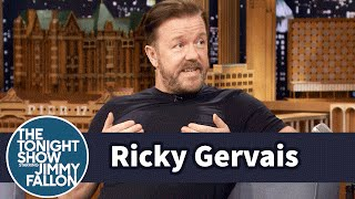 Ricky Gervais Attempts the Most Impressions in 30 Seconds