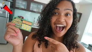 OMG SHE WON A MILLION DOLLARS!!! 😳😱 LOTTERY TICKET PRANK GONE RIGHT!!!!!!!