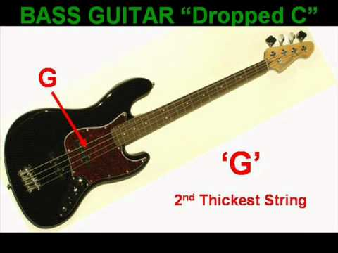 dropped c bass guitar tuning youtube. Black Bedroom Furniture Sets. Home Design Ideas