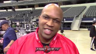 "DERRICK JAMES TO MIKEY'S TEAM ""I'M GONNA LOOK AT YOU WHEN SPENCE IS ON MIKEY'S A**"""