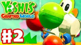 Yoshi's Crafted World - Gameplay Walkthrough Part 2 - Go-Go Yoshi in Go-Go Land!