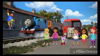 Dora & Friends meeting Thomas the Tank Engine
