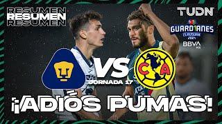 Resumen | Pumas vs América | Torneo Guard1anes 2021 BBVA MX J17 | TUDN
