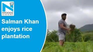 Salman Khan enjoys farm life, shares video of planting ric..