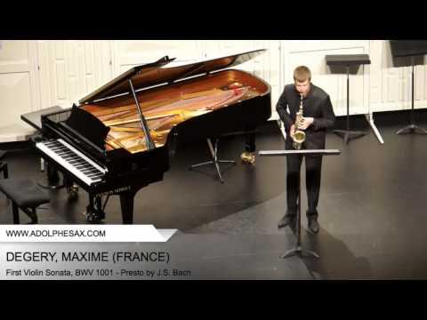 Dinant 2014 - DEGERY, MAXIME - First Violin Sonata, BWV 1001 - Presto by J.S. Bach