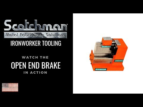 Scotchman Ironworker - Open End Brake Tooling Option - USA Made