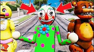*NEW* CLOWN BALDI'S BASICS MEETS ANIMATRONICS! (GTA 5 Mods For Kids FNAF RedHatter)