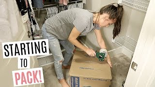 PACKING UP OUR APARTMENT // Packing and Moving Vlog  // Simply Allie