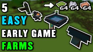 5 EASY EARLY GAME FARMS For Minecraft 1.17