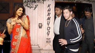 Priyanka Chopra's Boyfriend Nick Jonas Arrives At Priyanka's House For WEDDING Ring Ceremony