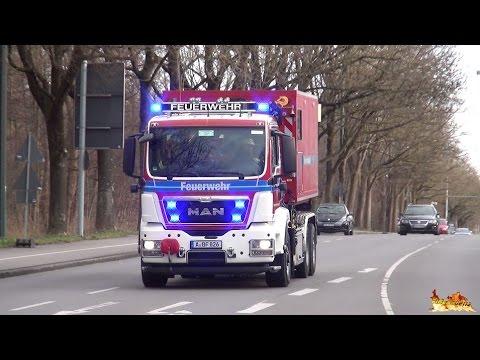[Dachstuhl im Vollbrand] Großeinsatz Feuerwehr Augsburg (Einsatzfahrten Hauptwache) + Stadtwerke