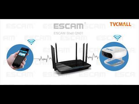 Tutorial on How to Watch Real-time Monitoring of ESCAM IP Camera from Your Cell Phone - TVC Mall