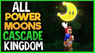 All Power Moon Locations in Cascade Kingdom in Super Mario Odyssey