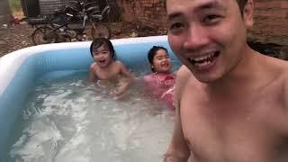 Anh Hảo Vlogs _ Khui Hộp Phao Bơi Khổng Lồ | Lần Đầu Khoe Thân Và Cái Kết