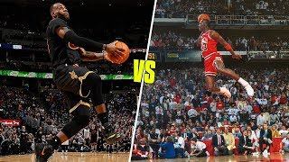 Michael Jordan Vs LeBron James Greatest Career Dunks!
