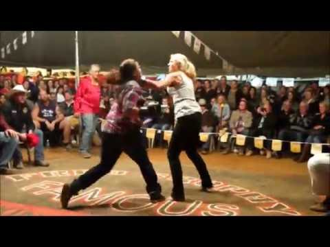 3 women tent fight - Outback Fight Club  - Mt Isa 2015