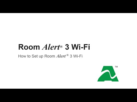 Room Alert: How To Set Up Your Room Alert 3 Wi-Fi