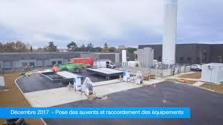 GNVert : la construction de la station GNLC de Bouloc en timelapse