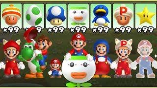 New Super Mario Bros. U - All Power-Ups