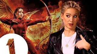 """Did you guys know I was in the Hunger Games?"" Jennifer Lawrence on where she keeps Katniss's bow."
