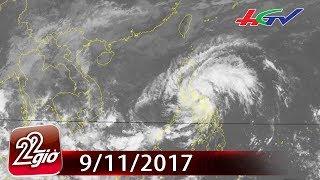 Áp thấp nhiệt đới gây gió mạnh, sóng lớn trên Biển Đông | CHUYỆN 22 GIỜ - 9/11/2017
