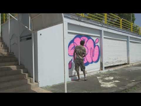 TOON graffiti flop throw-up