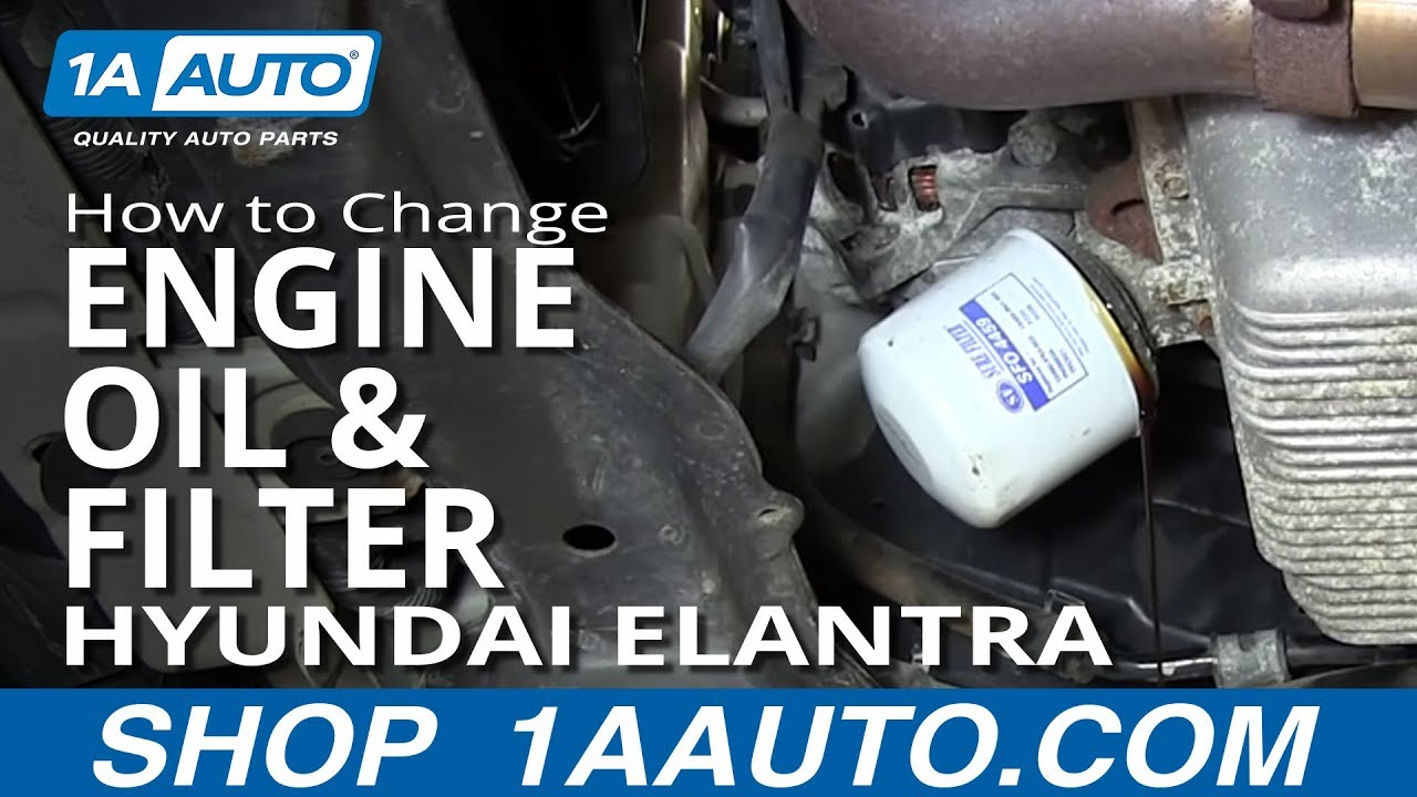 Hyundai Elantra Oil Filter Location
