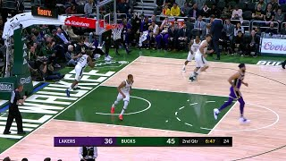 2nd Quarter, One Box Video: Milwaukee Bucks vs. Los Angeles Lakers