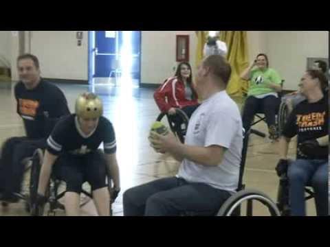 Crashing wheelchairs and clashing football skills