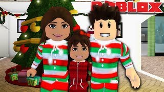 CHRISTMAS EVE FAMILY ROUTINE | Roblox Bloxburg Family